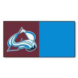 "NHL - Colorado Avalanche Rug, Carpet, Mats 18""x18"" tiles"