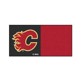 "NHL - Calgary Flames Rug, Carpet, Mats 18""x18"" tiles"