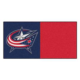 "NHL - Columbus Blue Jackets Rug, Carpet, Mats 18""x18"" tiles"