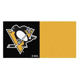 "NHL - Pittsburgh Penguins Rug, Carpet, Mats 18""x18"" tiles"