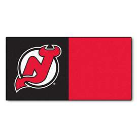 "NHL - New Jersey Devils Rug, Carpet, Mats 18""x18"" tiles"
