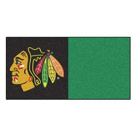 "NHL - Chicago Blackhawks Rug, Carpet, Mats 18""x18"" tiles"