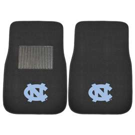 UNC University of North Carolina - Chapel Hill  2-pc Embroidered Car Mat Set