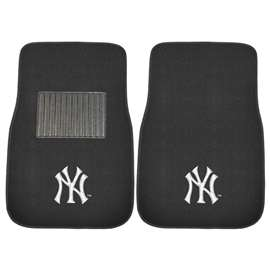 "MLB - New York Yankees 2-pc Embroidered Car Mats 18""x27""  2-pc Embroidered Car Mat Set"