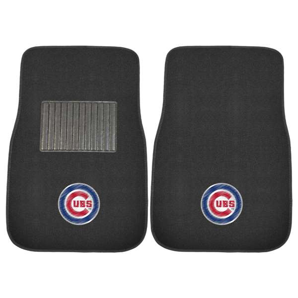 "MLB - Chicago Cubs 2-pc Embroidered Car Mats 18""x27""  2-pc Embroidered Car Mat Set"
