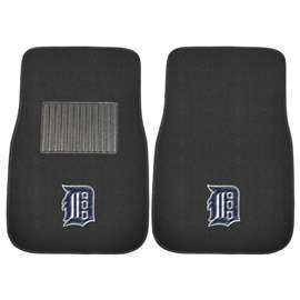 "MLB - Detroit Tigers 2-pc Embroidered Car Mats 18""x27""  2-pc Embroidered Car Mat Set"