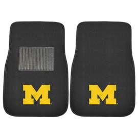 University of Michigan  2-pc Embroidered Car Mat Set