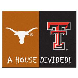 House Divided: Texas / Texas Tech  House Divided Mat Rug, Carpet, Mats