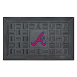 "MLB - Atlanta Braves Door Mat 19.5""x31.25""  Medallion Door Mat"