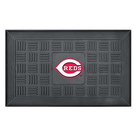 "MLB - Cincinnati Reds Door Mat 19.5""x31.25""  Medallion Door Mat"