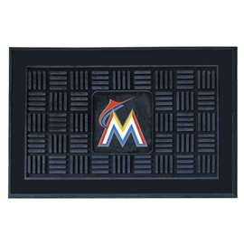 "MLB - Miami Marlins Door Mat 19.5""x31.25""  Medallion Door Mat"