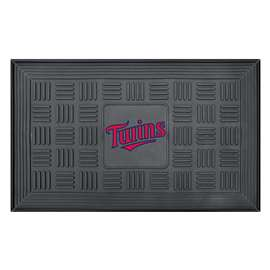 "MLB - Minnesota Twins Door Mat 19.5""x31.25""  Medallion Door Mat"