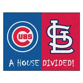 "MLB - Cubs - Cardinals House Divided Rug 33.75""x42.5""  House Divided Mat"
