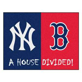 "MLB - Yankees - Red Sox House Divided Rug 33.75""x42.5""  House Divided Mat"