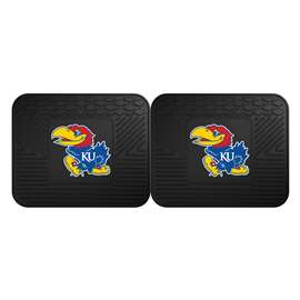 University of Kansas  2 Utility Mats Rug Carpet Mat