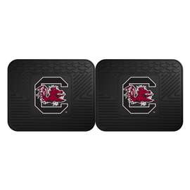 University of South Carolina  2 Utility Mats Rug Carpet Mat
