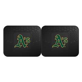 "MLB - Oakland Athletics 2-pc Utility Mat 14""x17""  2 Utility Mats"
