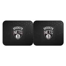 NBA - Brooklyn Nets  2 Utility Mats Rug Carpet Mat