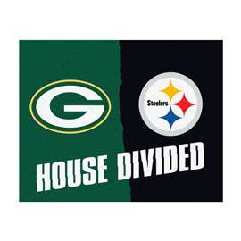NFL House Divided - Packers / SteelersFloor Rug Mats
