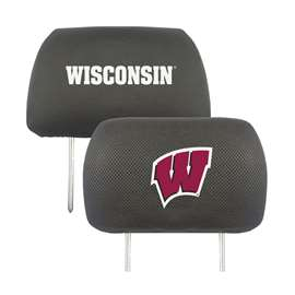 University of Wisconsin  Head Rest Cover Car, Truck