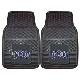 Texas Christian University  2-pc Vinyl Car Mat Set