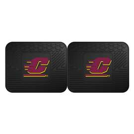 Central Michigan University  2 Utility Mats Rug Carpet Mat