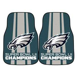"Philadelphia Eagles Super Bowl LII 52 Champions 2-piece Carpeted Cat Mats 18""x27"""