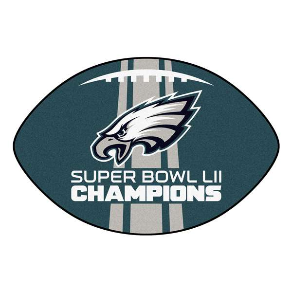 "Philadelphia Eagles Super Bowl LII 52 Champions Football Mat 22""x30"""