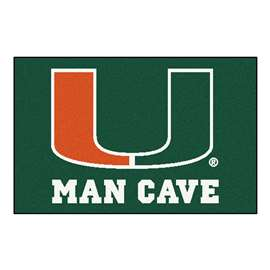 University of Miami  Man Cave Starter Mat, Rug Carpet