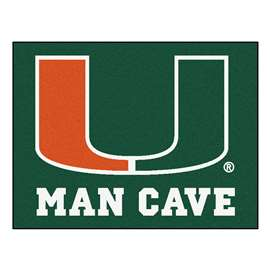 University of Miami  Man Cave All-Star Mat, Rug Carpet