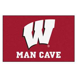 University of Wisconsin  Man Cave Starter Mat, Rug Carpet