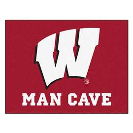 University of Wisconsin  Man Cave All-Star Mat, Rug Carpet