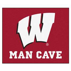 University of Wisconsin  Man Cave Tailgater Mat, Rug Carpet