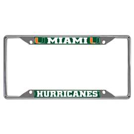 University of Miami  License Plate Frame Car, Truck