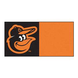"MLB - Baltimore Orioles Cartoon Bird 18""x18"" Carpet Tiles  Team Carpet Tiles"