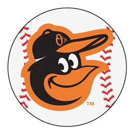 "MLB - Baltimore Orioles Cartoon Bird Baseball Mat 27"" diameter   Baseball Mat"