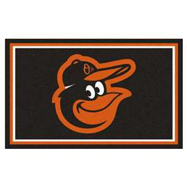 MLB - Baltimore Orioles Cartoon Bird 4'x6' Rug  4x6 Rug