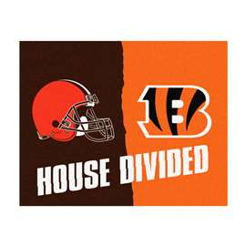 NFL House Divided - Bengals / BrownsFloor Rug Mats