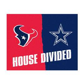 NFL House Divided - Texans / CowboysFloor Rug Mats