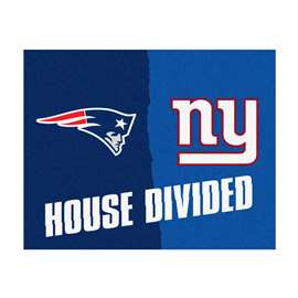 NFL House Divided - Patriots / GiantsFloor Rug Mats