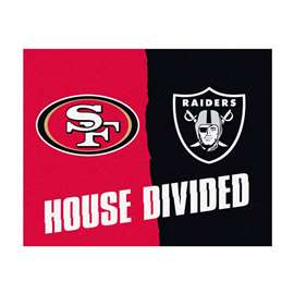 NFL House Divided - 49ers / RaidersFloor Rug Mats