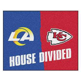 NFL House Divided - Rams / ChiefsFloor Rug Mats