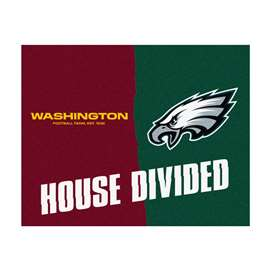 NFL House Divided - Redskins / EaglesFloor Rug Mats