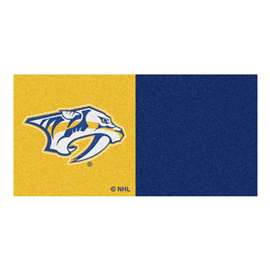 "NHL - Nashville Predators Rug, Carpet, Mats 18""x18"" tiles"