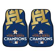 Houston Astros 2017 World Series Champions 2-pc Printed Carpet Car Mat Set Golf