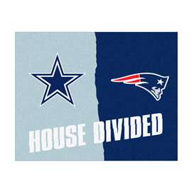 NFL House Divided - Cowboys / PatriotsFloor Rug Mats