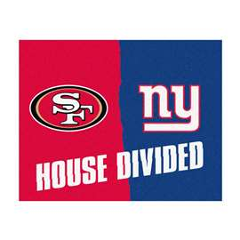 NFL House Divided - 49ers / GiantsFloor Rug Mats