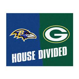 NFL House Divided - Ravens / PackersFloor Rug Mats