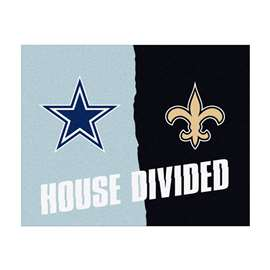 NFL House Divided - Cowboys / SaintsFloor Rug Mats