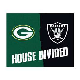 NFL House Divided - Packers / RaidersFloor Rug Mats